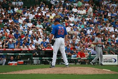 Kevin Gregg in for the Save (mikepix) Tags: chicago baseball cleveland indians cubs wrigleyfield 2009 bullpinbox