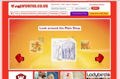 Woolworths hompage