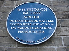 Photo of W. H. Hudson blue plaque