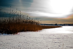 spring sunset (g1ttar) Tags: city winter sunset snow ice finland spring jyvaskyla