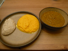 three purees dinner