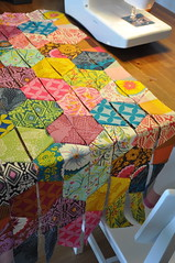 Half Hexagons Quilt (batixa) Tags: quilt quilting half hexagon patchwork halfhexagon