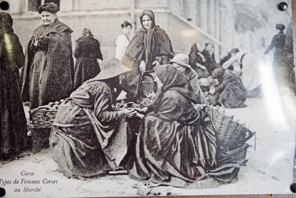 Corsican market women, Corsica, France