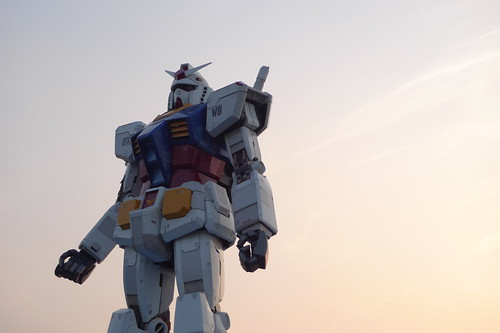 The lifesize Gundam statue in Odaiba