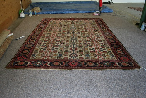 Late 1800s Ferahan Rug cleaned by RugMasters of Durango