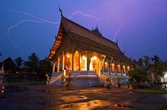 Luang Prabang, Laos Lightning Storm