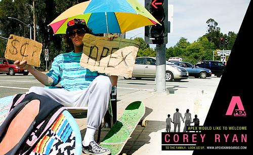 Corey Ryan para Apex Skimboards