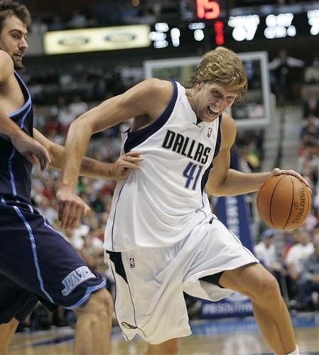 Dirk Nowitzki anota 29 puntos en un cuarto
