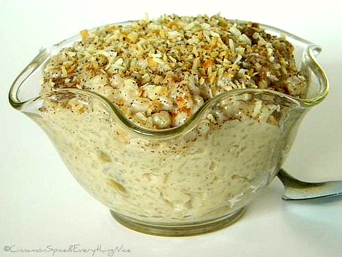 Coconut Cream Rice Pudding