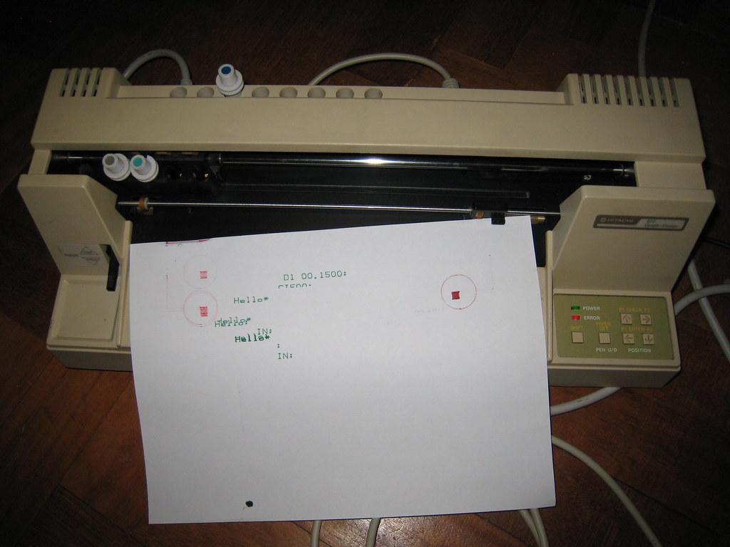 Hitachi 672 Pen Plotter