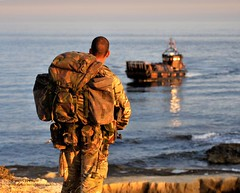 Royal Marine Waits for Pickup by Landing Craft During Exrecise Cypriot Lion in the Mediterranean (Defence Images) Tags: uk boat mediterranean exercise military free cyprus hampshire equipment portsmouth british landingcraft defense defence personnel royalnavy mk5 lcvp royalmarines landingcraftvehiclepersonnel surfaceship 40commando nonidentifiable royalmarineunit royalmarineexercise vehiclespersonnel cypriotlion