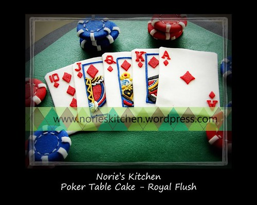 Norie's Kitchen - Poker Cake - Royal Flush