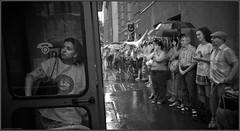 Teachers Demonstration in Budapest. (katlacfoto) Tags: street blackandwhite rain town nikon telephone budapest demonstration teachers nikond3