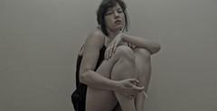 eccola-0075 (Cristian Photocuba) Tags: girl donna lingerie sguardo sola autoscatto gambe ivonne sigaretta sottoveste femminilit spettinata
