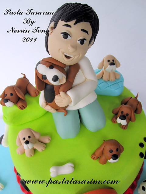 DOGS VE KID CAKE- SARP BIRTHDAY CAKE (my son birthday cake)