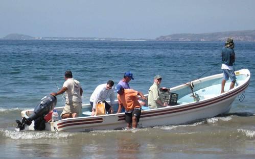 Triumphant return of the fishermen