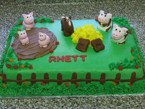 Excellent Farm Animal Birthday Cake A Photo On Flickriver Funny Birthday Cards Online Alyptdamsfinfo