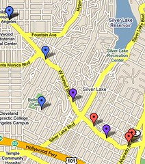 Google Maps - Silver Lake Bike Thefts