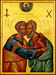 Peter and Andrew (Ronnie R) Tags: pope art catholic brothers icon andrew christian peter orthodox apostles patriarch athenagoras