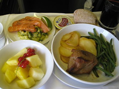 Air France Business Class / Flight 084 () Tags: ca friends party vacation fish canada dinner plane airplane bread lunch fly inflight potatoes wine cab aircraft flight jet salmon aerial manitoba 3a pineapple bacchus vin boeing soire redwine inflightmeal ananas tablesetting placesetting airplanefood aereo 747 airliner avion frenchbread vino airfrance wein b747 foodie 1933 747400 businessclass cabernetsauvignon cabernet pia cabernetfranc areo 084 gamehen insidetheplane  worldbusinessclass skyteam  cabininterior lespaceaffaires seat3a interiorcabin inthecabin    phnafal