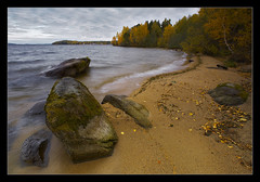Autumn on Tavatuy Lake (Vadim Balakin) Tags: autumn lake russia boulders lakeshore ekaterinburg otw urals mwqio tavatuy