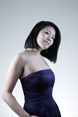 The purple dress (Unique_Snowflake) Tags: portrait woman girl beautiful digital canon asian eos pretty dress stunning etc dslr threequarter ef24105f4l 1dsmkiii