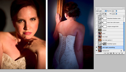 soft light blended smoothing - Vintage photoshop action