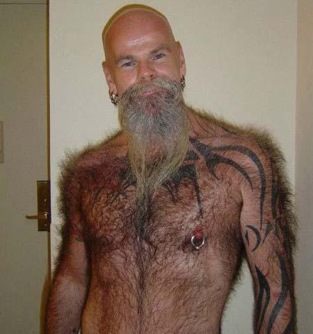 Hairy bald men