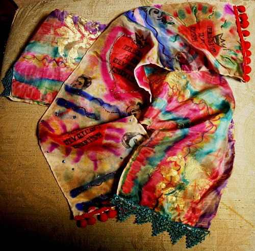 Hand Dyed Mixed Media Scarf Class