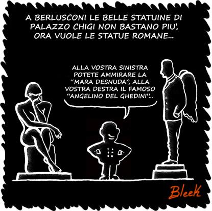 Berlusconi statue