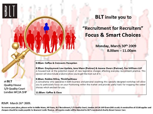 BLT Senior Recruiter Workshop