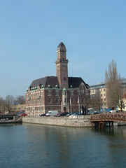 University building on the canal in Malmo Sweden (litlesam1) Tags: europe sweden malmo scandanavia