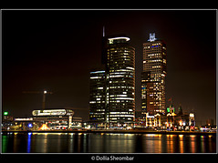 Montevideo - Rotterdam (DolliaSH) Tags: city longexposure light urban haven holland color water colors architecture night reflections river photography lights noche photo rotterdam europe foto nightshot photos nacht harbour nederland thenetherlands wideangle le montevideo maas ultrawide nuit kopvanzuid notte hdr stad noch zuidholland 1755 southholland photomatix 50d tonemapping nachtopname manhattanaandemaas dollia dollias sheombar