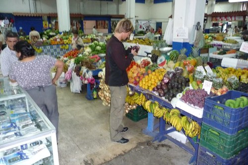 At the fruit market in San José, Costa Rica.