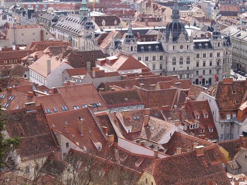Rote Dächer von Graz