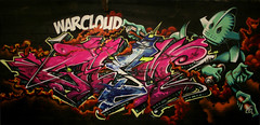 Warcloud- casm-tea (TEAONE 9N069T) Tags: england clouds that one graffiti robot holocaust tank tea bubbles shit preston clack nsa andall casm teaone warcloud clackkapow
