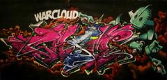 Warcloud- casm-tea (TEAONE 9N069T) Tags: england clouds that one graffiti robot holocaust tank tea bubbles shit preston clack nsa andall casm teaone warcloud clackkapow