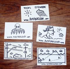 SXSW Business Cards (Austin Kleon) Tags: businesscards sxsw cartoons 2009