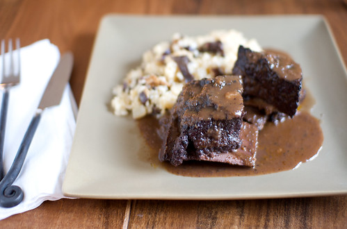 short rib and risotto