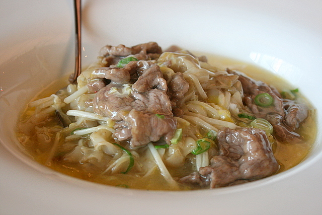 Rice Noodles Braised with Sliced Beef and Egg or simply Beef hor fun