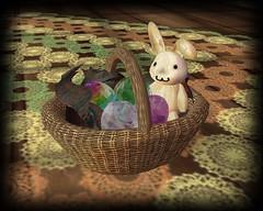 The Bunny Hop Hunt (kanako.o) Tags: rabbit bunny bag basket treasure candy nail free sl hop usagi hunt