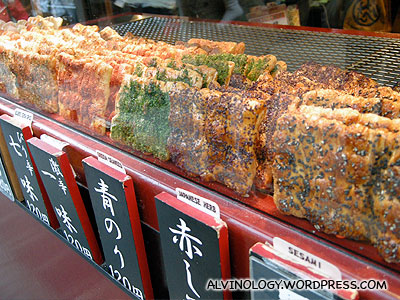 Assorted seasoned Senbei