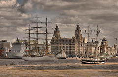 Tall Ships Liverpool July 08 (jimps123) Tags: cruise england festival port liverpool docks river boats boat dock ship waterfront minolta harbour sony ships navy sigma parade british dynax alpha dslr 2008 liver liverbird cunard mersey graces wallasey merseyside liverbuildings 3graces scouse a700 liverppol