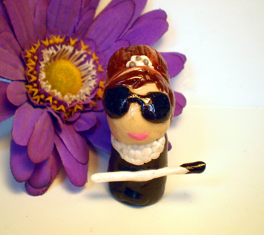 Audrey Hepburn Breakfast at Tiffany's Polymer Clay Figure