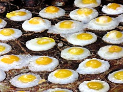 Eggs and Eggs (hk_traveller) Tags: trip travel vacation color yellow canon photo interestingness interesting asia egg taiwan explore turbo kaohsiung   sx1 friedeggs 408 douban top500 interestingness408 i500 turbophoto canonpowershotsx1is