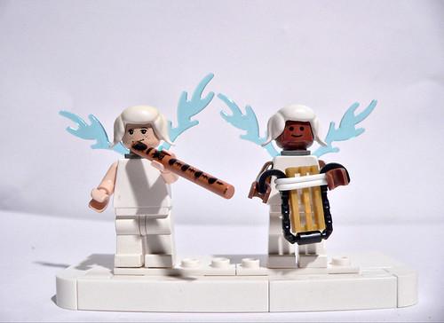 two angel custom minifigs