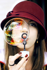 Bubbles (Nika Fadul) Tags: girl hat purple bubbles nails bubble bubbly snowhite monicafadul nikafadul