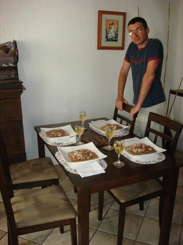 My birthday lunch beautifully prepared by friend Matthew. Antigua, Guatemala.