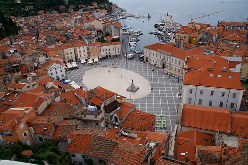 "Piran from the campanile • <a style=""font-size:0.8em;"" href=""http://www.flickr.com/photos/26679841@N00/3447984493/"" target=""_blank"">View on Flickr</a>"