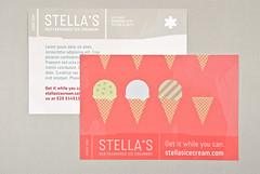 Graphic Ice Creamery Postcard (inkdphotos) Tags: pink dessert graphic cone chocolate postcard tan illustrative icecream vanilla yogurt milkshake sherbet parlor sorbet scoop creamery